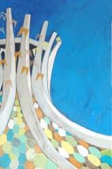 Catedral Junina em Festa 100x180 cm Oil on linnen 2010