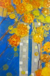 Congresso e o Ipê Amarelo 100x180 cm Óleo sobre linho 2009