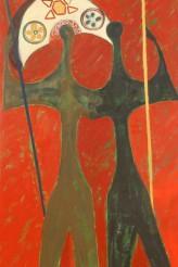 Dois Candangos Cerrado 100x180 cm Óleo sobre linho 2008