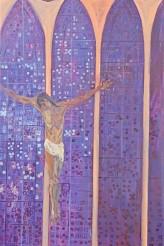 Don Bosco Cristo Azul 100x180 cm Óleo sobre linho 2011
